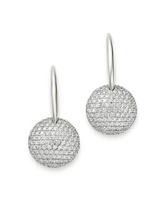 Roberto Coin - 18K White Gold Fantasia Diamond Round Drop Earrings